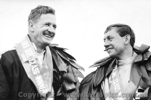 66740  -   R. Aaltonen / Bob Holden Outright and Class C Winners Morris Cooper S - Bathurst 1966 - Photographer Lance J Ruting