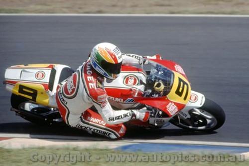 91302 - Kevin Magee Suzuki - 500cc Australian GP Eastern Creek 1991 - Photographer Ray Simpson