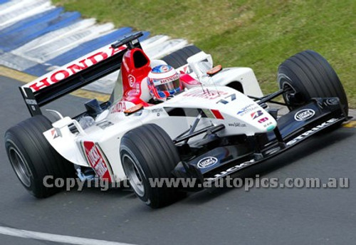 203508 - Jenson Button,BAR-Honda -  Australian Grand Prix  Albert Park 2003 - Photographer Marshall Cass