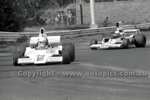 79643 - John Wright Lola T400 & Johnnie Walker, Lola T332 - Sandown 9th September 1979 - Photographer Darren House