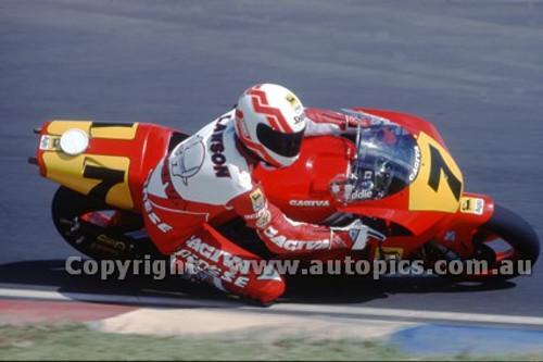 91306 - Eddie Lawson, Gagiva - 500cc Australian Gran Prix  Eastern Creek 1991 - Photographer Ray Simpson