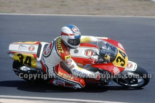 91310 - Kevin Schantz, Suzuki - 500cc Australian Gran Prix  Eastern Creek 1991 - Photographer Ray Simpson