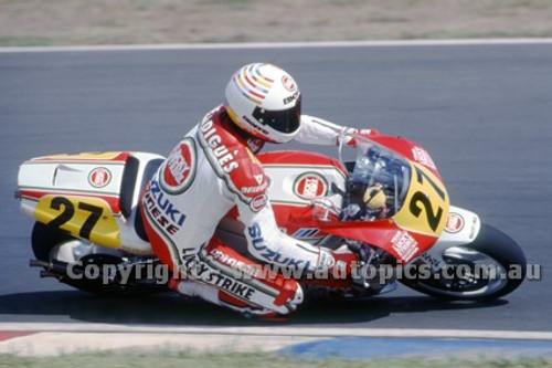 91313 - Didier De Radigues, Suzuki - 500cc Australian Gran Prix  Eastern Creek 1991 - Photographer Ray Simpson