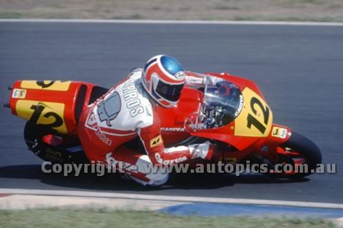 91316 - Alex Barros, Gagiva - 500cc Australian Gran Prix  Eastern Creek 1991 - Photographer Ray Simpson