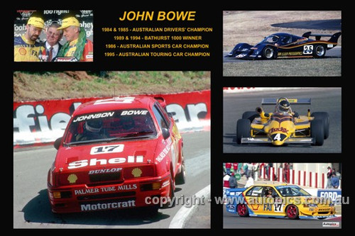 366 - John Bowe - A collage of a few of the cars he drove during his career