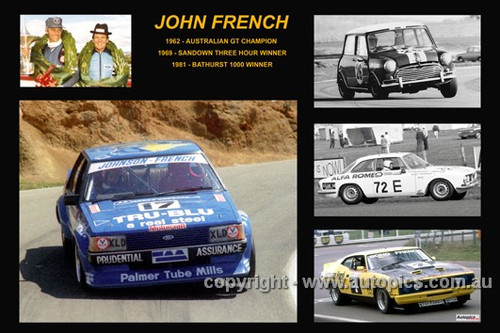 369 - John French - A collage of a few of the cars he drove during his career