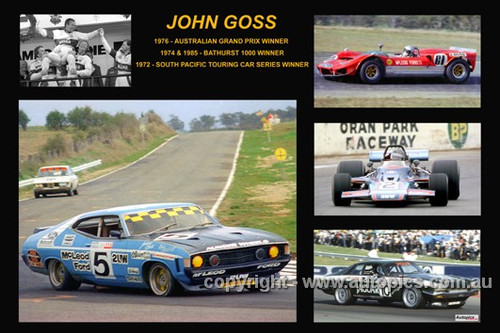 371 - John Goss - A collage of a few of the cars he drove during his career