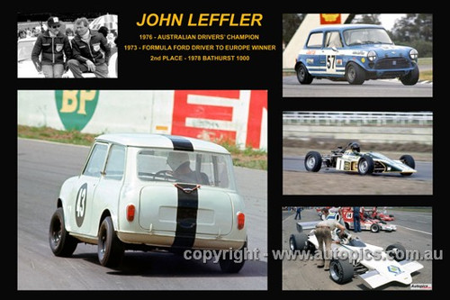 373 - John Leffler - A collage of a few of the cars he drove during his career
