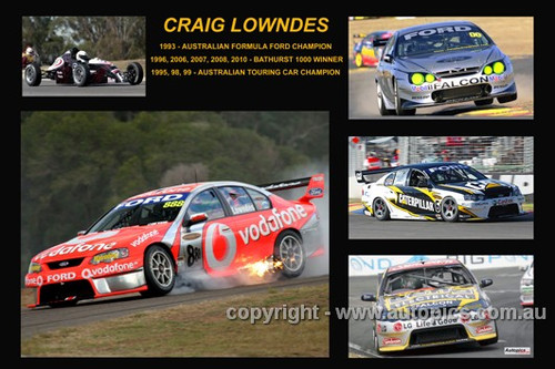 377 - Craig Lowndes - A collage of a few of the Ford cars he drove during his career