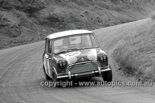 66742  -   R. Aalten / Bob Holden Outright and Class C Winners Morris Cooper S - Bathurst 1966 - Photographer Lance J Ruting