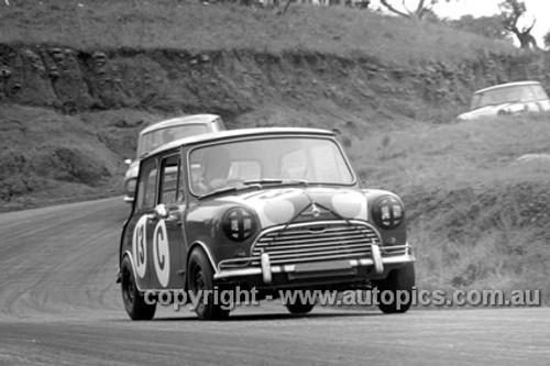 66743  -   R. Aalten / Bob Holden Outright and Class C Winners Morris Cooper S - Bathurst 1966 - Photographer Lance J Ruting