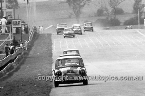 66744  -   R. Aalten / Bob Holden Outright and Class C Winners Morris Cooper S - Bathurst 1966 - Photographer Lance J Ruting