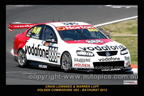 12701-1 - Craig Lowndes & Warren Luff, Holden Commodore VE2 -  Bathurst 2012  - Photographer Craig Clifford