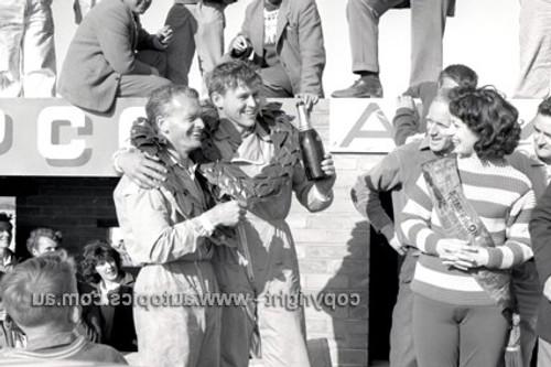 62752 - George Reynolds & Jim  McKeown  Volkswagon -  Armstrong 500 - Phillip Island 1962 - Photographer Peter D'Abbs