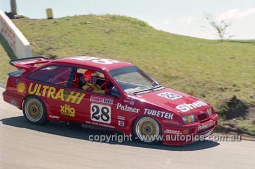 88766 - Dick Johnson in the number 28 Sierra RS500 - Bathurst 1988 - Photographer Lance J Ruting