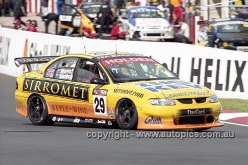 01733 - P. Morris & A. Stichbury, Holden Commodore VX - Bathurst 2001 - Photographer  Marshall Cass