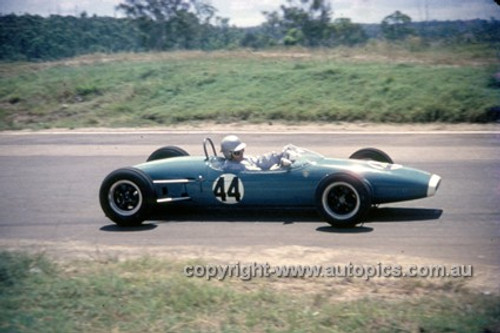 630044 - Geoff McClelland, Brabham - Lakeside International 1963 - Photographer Bruce Wells.