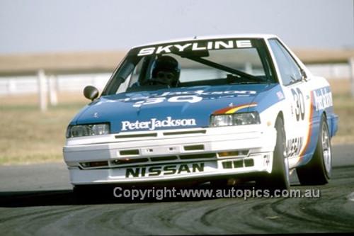 86057  -  George Fury - Nissan Skyline Turbo - Sandown 13th April 1986 - Photographer Ray Simpson