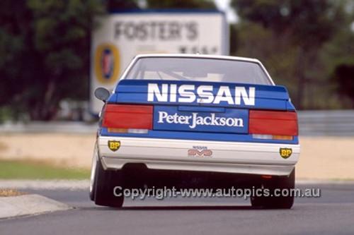 87042-  G. Seton / G Fury - Nissan Skyline - Castrol 500 Sandown 1987 - Photographer Ray Simpson