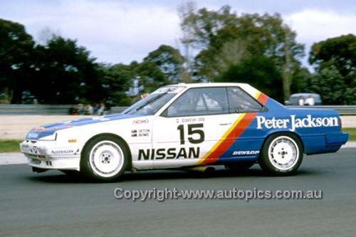 87043-  G. Seton / G Fury - Nissan Skyline - Castrol 500 Sandown 1987 - Photographer Ray Simpson