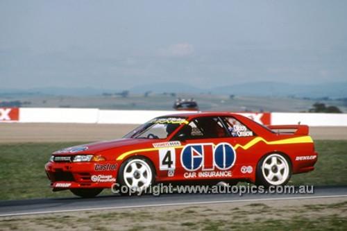 92748  - M. Gibbs / R. Onslow - Nissan GTR -  Bathurst 1992 - Photographer Ray Simpson