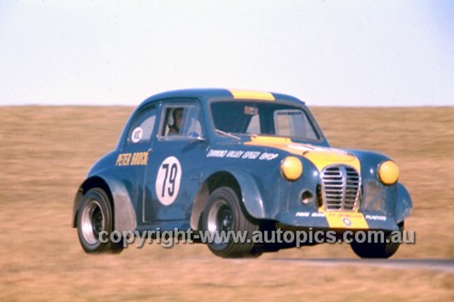 Peter Brock, Austin A30 - Oran Park 1969 - Photographer Russell Thorncraft