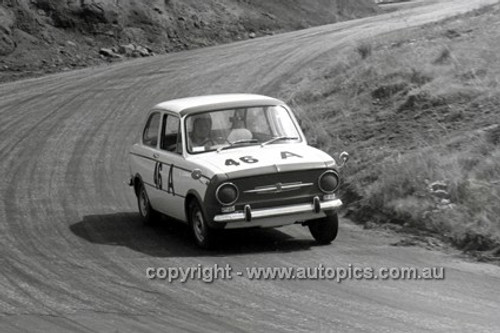 66772  - Bill Burns & Alex Lazich, Fiat 850 - Gallaher 500 Bathurst 1966 - Photographer Lance J Ruting