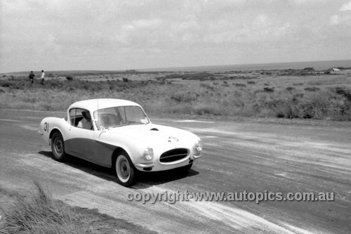 59418  - John Bissett, Buckle - Phillip Island 1959 - Photographer Peter D'Abbs