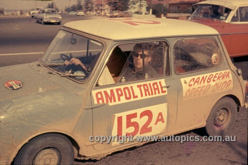 64971 - Jack Byrne &  Ray Gulson - 1964 Ampol Trial - Mini - Photographer Ian Thorn