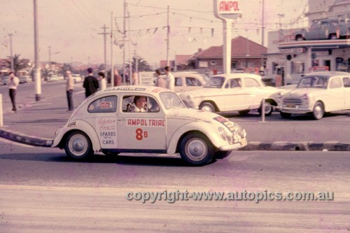 64972 - Joe Freedman & Hayden Cadwallader - 1964 Ampol Trial - Volkswagen - Photographer Ian Thorn