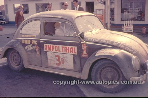 64973 - A. Cornell & J. Harris - 1964 Ampol Trial - Volkswagen - Photographer Ian Thorn