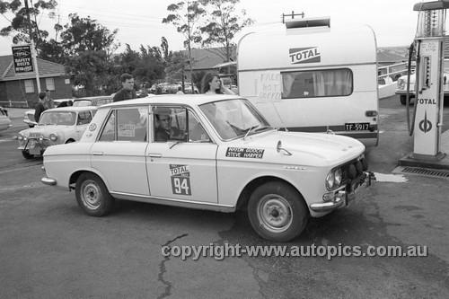 67955 - Haydn Gooch & Steve Harper, Datsun Bluebird - Total Rally 1967 - Photographer Lance J Ruting