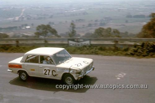 68762  -  Mike Kable / Ron Kearns Fiat 125 -  Hardie Ferodo 500 Bathurst 1968 - Photographer Geoff Arthur