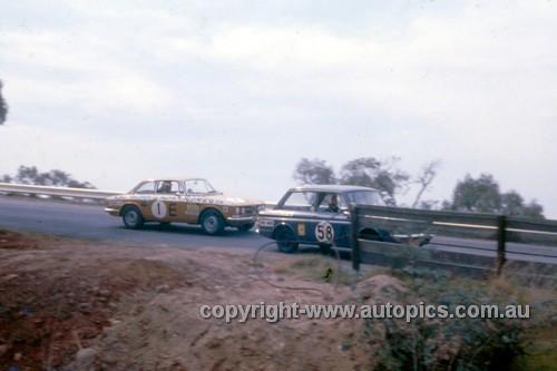 68766  -  Allan Johns / David Frazer Hillman Imp & Kevin Bartlett / Doug Chivas Alfa Romeo 1750 GTV -  Hardie Ferodo 500 Bathurst 1968 - Photographer Geoff Arthur