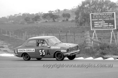 68770  -  Barry Ferguson / Brian Sampson Toyota Corolla -  Hardie Ferodo 500 Bathurst 1968 - Photographer Geoff Arthur