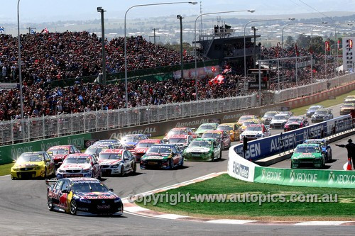 13700 - Start of the Bathurst 1000 - 2013  - Photographer Craig Clifford