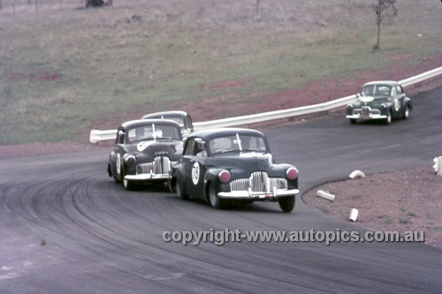 63029 - Bruce Stewart & John Rootes, Holden FX - Oran Park 1963 - Anne Blackwood Collection