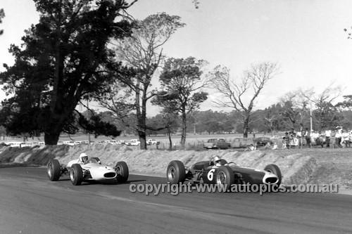 65565 - B. Stillwell & F. Gardner, Brabham BT11A Climax - Tasman Series   Longford 1965