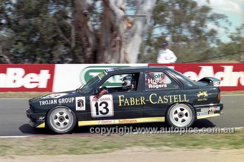 96740 - Bob Holden & Dennis Rogers, BMW E30 - Bathurst 1996 - Photographer Marshall Cass