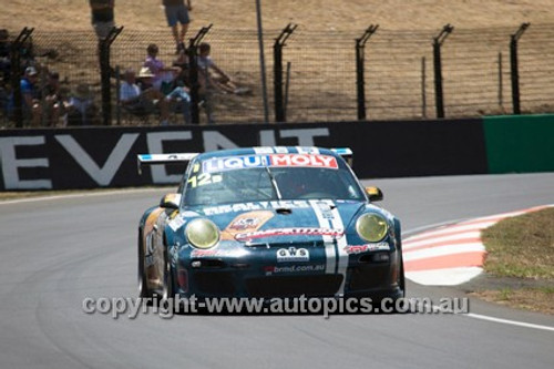 14013 - D. Calvert-Jones / A. Davison / P. Long - Porsche 997 GT3 Cup - 2014 Bathurst 12 Hour  - Photographer Jeremy Braithwaite