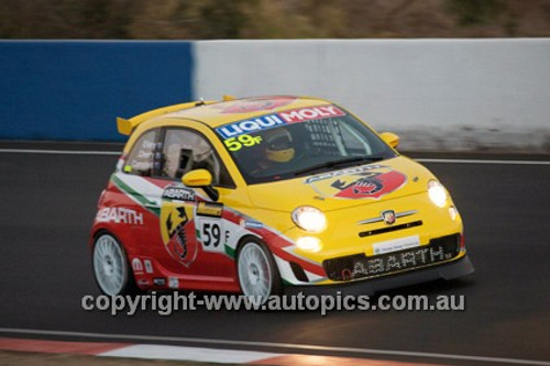 14021 - M. Cherry / M.Campbell / L. Ellery - Fiat Abarth 500 - 2014 Bathurst 12 Hour  - Photographer Jeremy Braithwaite