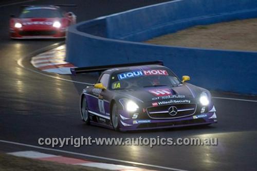 14027 - B. Schneider / M. Engel / N. Bastian - Mercedes  SLS AMG GT 6200 - 2014 Bathurst 12 Hour  - Photographer Jeremy Braithwaite