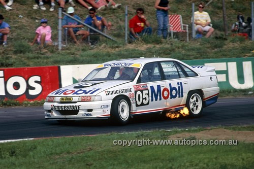 91772  -  Peter Brock & Adrew Miedecke  - Holden Commodore VN  Bathurst 1991 - Photographer Ray Simpson