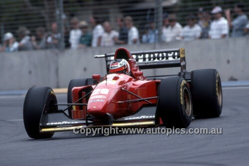 94505 - Gerhard Berger, Ferrari - 2nd place Australian Grand Prix - Adelaide 1994