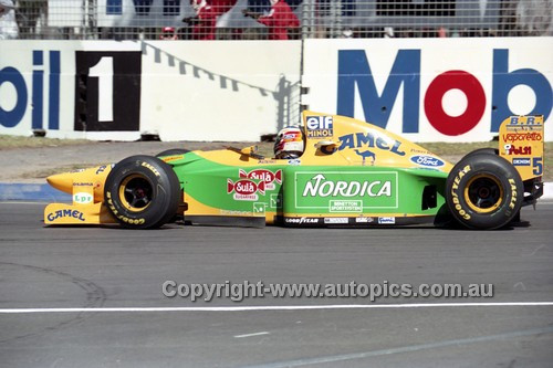 93519 - Michael Schumacher, Benetton-Ford - Australian Grand Prix Adelaide 1993 - Photographer Marshall Cass