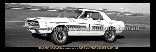 337 - Ian Geoghegan Ford Mustang Calder Park 1969 -  A Panoramic Photo 30x10inches.
