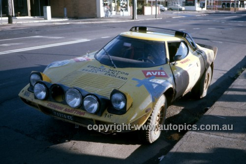76097 - Ron Marks, Lancia Stratos - Warrana Rally 1976 - Photographer Martin Domeracki