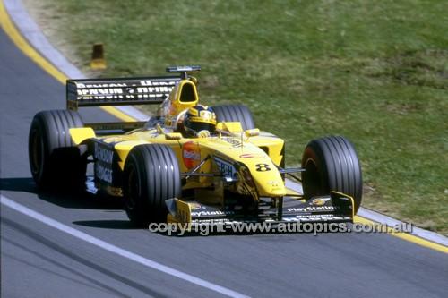 99522 - Heinz-Harald Frentzen  Jordan-Mugen-Honda - 2nd Place AGP Melbourne 1999 - Photographer Marshall Cass