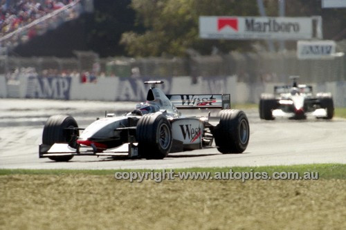 98504 - David Coulthard  McLaren-Mercedes - 2nd Place AGP Melbourne 1998 - Photographer Marshall Cass
