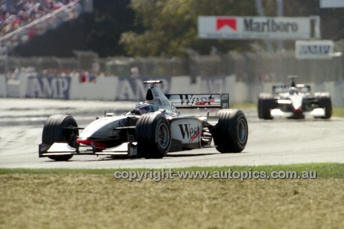 98504 - David Coulthard  McLaren-Mercedes - 2nd Place AGP Melbourne 1998 - Photographer Marshall Cass